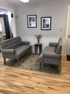 Salon waiting area